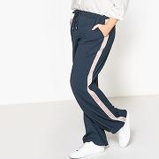 Pantalon bande cotés bleu marine-bleu