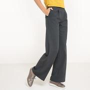 Pantalon large gris chiné-gris
