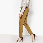 Pantalon chino slim kaki-vert-34-femme > vêtements > pantalon > pantalon slim