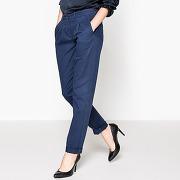 Pantalon chino à pince bleu indigo-bleu