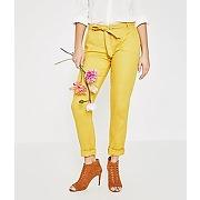 Pantalon en lin femme ocre - promod