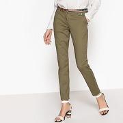 Pantalon chino avec ceinture amovible kaki-vert-36-femme > vêtements > pantalon > pantalon slim