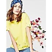 T-shirt brodé femme jaune citron - promod
