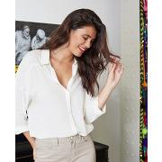 Chenoa - chemise jacquard col lurex one step