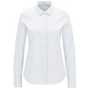 Chemise regular fit en coton stretch à rayures tennis
