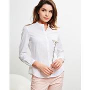 Cacharel-femme-chemise en coton cintrée blanche-t.34