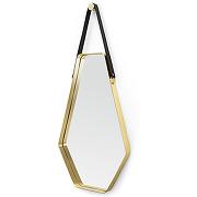 Cora grand miroir 45 x 100 cm, noir et or