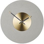 Birgen, horloge murale, gris et laiton
