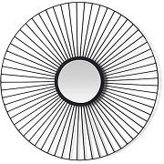 Tatum, miroir rond avec cadre métallique, noir