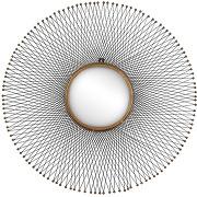 Miroir design en métal ø85cm isumi pomax - couleur - noir soldes