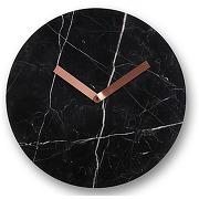 Cullen, horloge murale, marbre noir et laiton