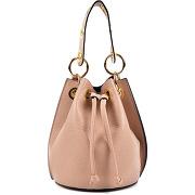 Roberta m-femme-sac en cuir louise rose pâle - 20.5x17x16 cm-t.u