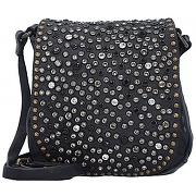 Campomaggi traditional mini bag sac bandouliére cuir 17 cm nero