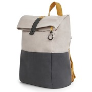 Lismore, sac à dos en toile enduite, gris silex