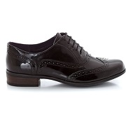 Derbies cuir verni hamble oak noir verni