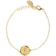 Bracelet celeste crystal or bleu nilai femme