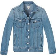 Veste en jean droite stone vintage