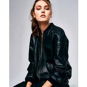 Bellerose-femme-veste en cuir iozo noire-t.0