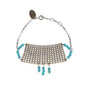 L'atelier des dames bracelet perles et maille femme bracelet réglable 16-17-18 cm