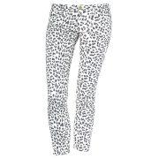 Virginie castaway jean 7/8ème femme imprimé léopard