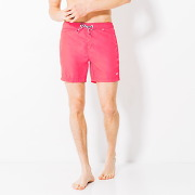 Short de bain homme court motif color block rose homme