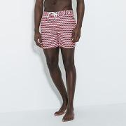 Short de bain homme court imprimé géométrique muni rose homme