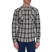 Chemises casual levi's pour homme - chemise raw coton pression carreaux bleu - soldes