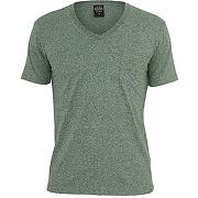 T-shirt col v à poche homme chiné vert (s)