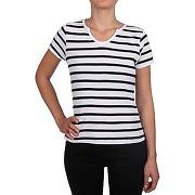 Tee shirt femme f102 blanc/marine