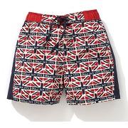 Short de bain imprimé drapeaumaillot de bain - r kids - coloris : imprimé union jack - taille : 3 ans - 94 cm,4 ans - 102 cm,8 ans - 126 cm,6 ans - 114 cm.