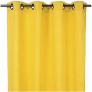 St tropez rideau à oeillets 140x280cm - 100% lin lavé curry