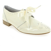 Derbies et richelieus we do 8554e blanc pour femme en cuir vernis