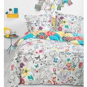 Housse de couette bolimania 100% coton - multicolore - maison - desigual - tailles disponibles: 140 x 200 cm
