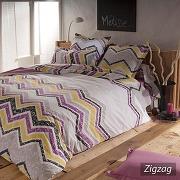Parure de lit 260x240 cm 100% coton zigzag