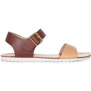Sandales en cuir bicolores couleur quetshe - monoprix femme