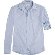 Chemise manches longues retroussables branswick bleu - pepe jeans