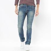 Jean coupe slim longueur 34 bleu - soft grey