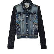 Veste en jean exotic - bleu - femme - desigual