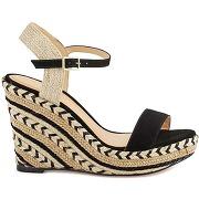 Soldes ! sandales cuir compensées agaya - feminin - noir - cosmoparis