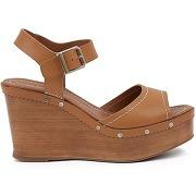 Soldes ! sandales cuir talon compensé edelys - feminin - orange - heyraud