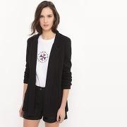 Soldes ! veste blazer, coton - feminin - noir - la redoute collections