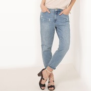 Soldes ! jean mumfit, longueur 30 - feminin - bleu - only