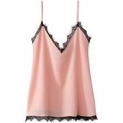 Soldes ! caraco avec détail dentelle - feminin - rose - la redoute collections
