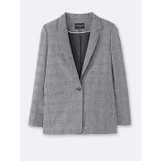 Soldes ! veste femme prince de galles - feminin - gris - cyrillus