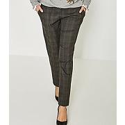 Pantalon prince-de-galles carreaux marron - promod