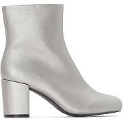 Soldes ! boots argenté talon carré - feminin - argent - la redoute collections