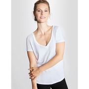 Soldes ! t-shirt femme en lin - feminin - blanc - cyrillus