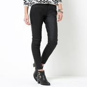 Soldes ! pantalon 7/8 enduit - feminin - noir - la redoute collections