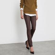 Soldes ! pantalon slim enduit - feminin - marron - la redoute collections