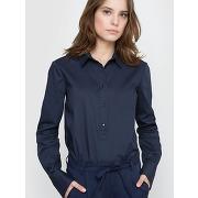 Soldes ! chemise manches longues en popeline - feminin - bleu - la redoute collections